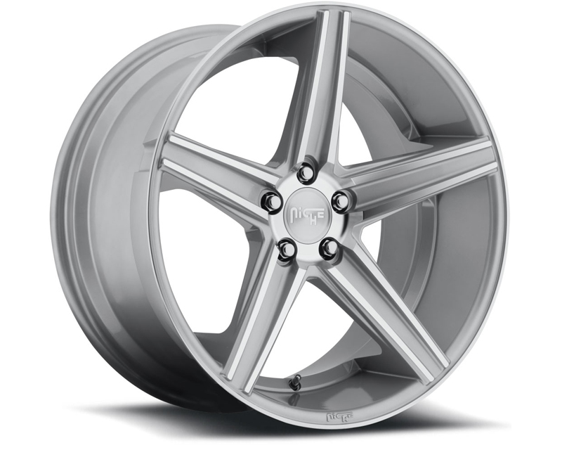Niche Apex M125 Silver Machined Wheel 18x8 5x100 +40mm