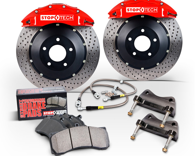 StopTech 355x32mm 2-Piece Drilled 4 Piston Rear Big Brake Kit Chevrolet Corvette C7 Z51 14-15