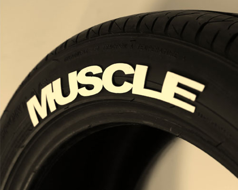 "Tred Wear ""MUSCLE"" Muscle Tredz Tire Letter Kit - TRW-16193"