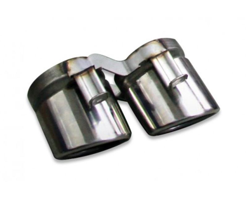 Tubi Style Stainless Steel Polished Exhaust Tips Kia Stinger 18-19 - TSKISTIN17.023.A