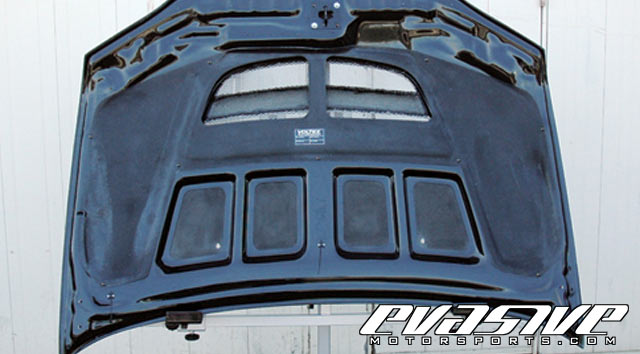 Voltex GT Hood Rain Covers Mitsubishi Lancer Evolution IX 06-07