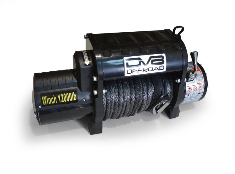 12000 LB Winch Black w/Synthetic Line and Wireless Remote DV8 Offroad - WB12SR