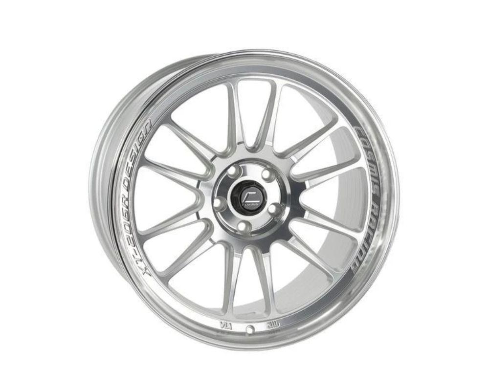 Cosmis Racing XT-206R Wheel 18x9.5 5x114.3 +10mm Silver w/ Machined Face + Lip - XT206R-1895-10-5x114.3-SMF