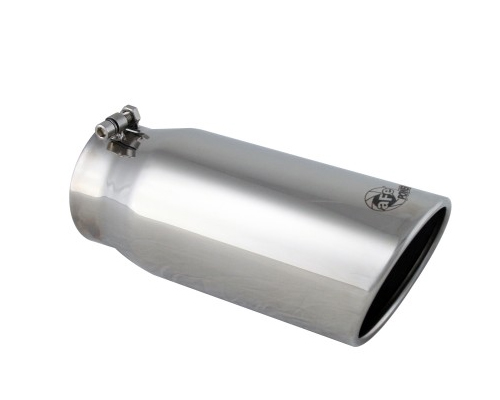 aFe Power MACH Force XP Polished Stainless Steel Exhaust Tips 4in x 5in Out x 12in L