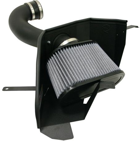 aFe Stage 2 Cold Air Intake Pro-Dry S w/o Cover Ford Mustang GT 4.6L V8 05-09 - 51-10293
