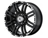 American Outlaw Bunker 17X8.5  5x139.7  10mm Black Machined Face