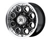 American Outlaw Patrol 16X8  5x114.3 No Offset Black Machined Face