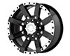 American Outlaw TNT 17X8.5  5x114.3  16mm Black Machined Lip
