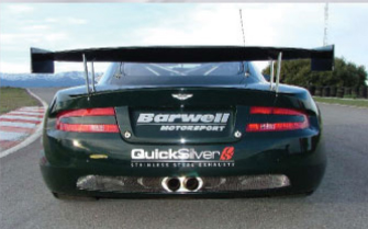 Quicksilver Sport Stainless Steel Rear Section Aston Martin DB9 incl. Volante 04-12 - AS050S