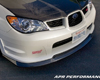 APR Carbon Fiber Front Air Dam Lip Subaru WRX STi 06-07