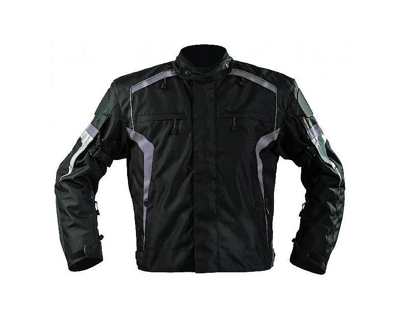 Motonation Apparel Bandido Sport Textile Jacket (Black/Gunmetal - Medium) - MNS-TBD-BKGM-4M