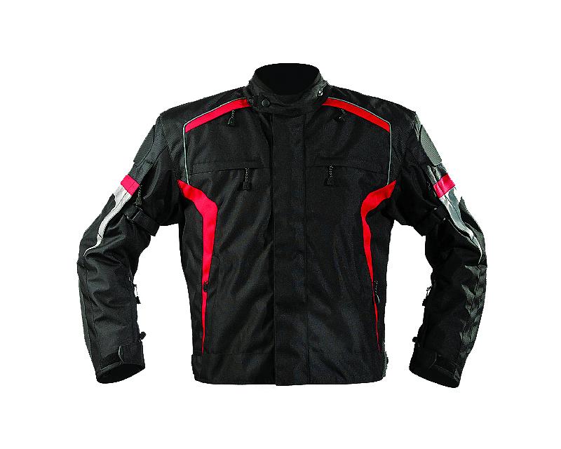 Motonation Apparel Bandido Sport Textile Jacket (Black/Red - Large) - MNS-TBD-BKRD-5L