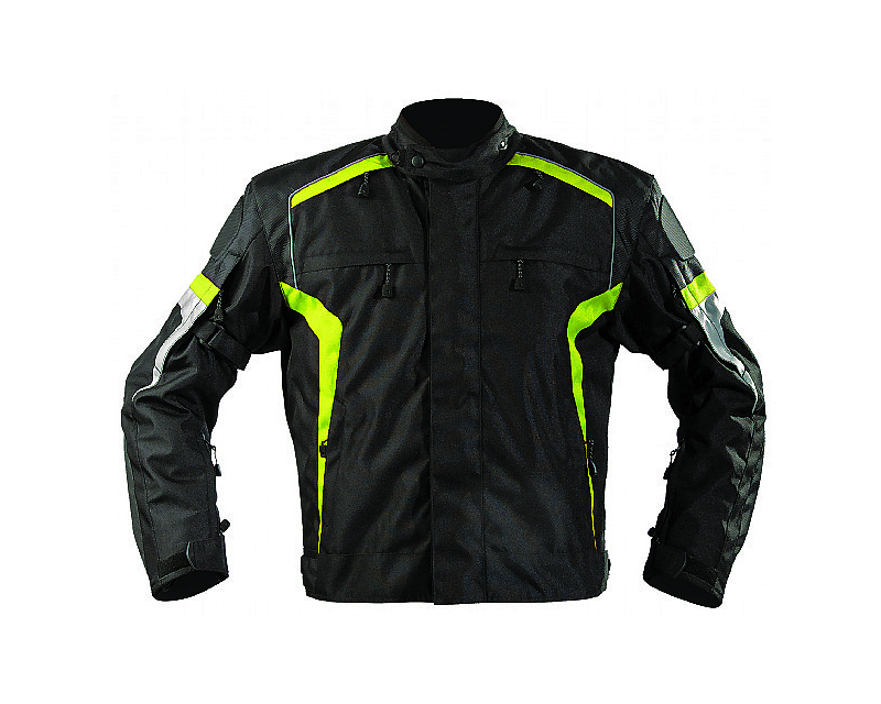 Motonation Apparel Bandido Sport Textile Jacket (Black/Hi Viz Yellow - XL) - MNS-TBD-BKFY-6XL