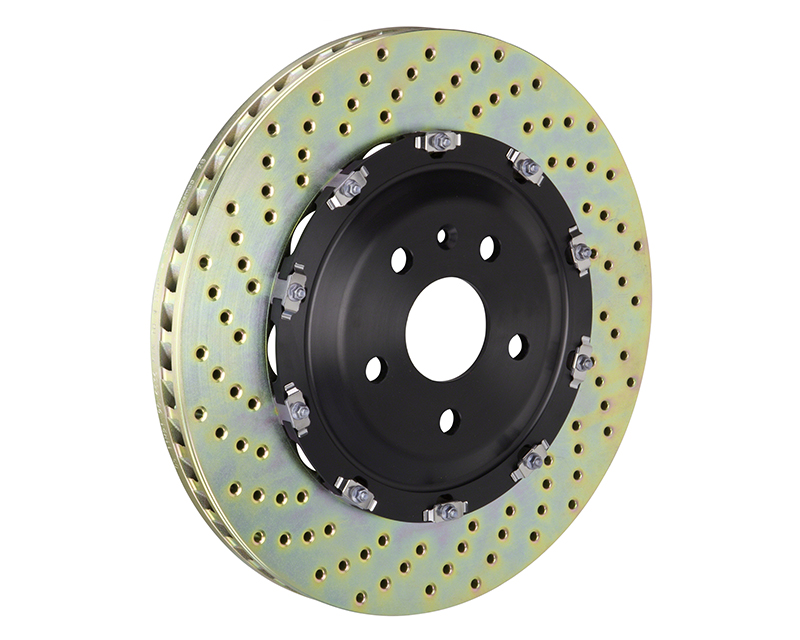 Brembo Drilled Front 365x34 2-Piece Rotors Audi R8 4.2 08-16