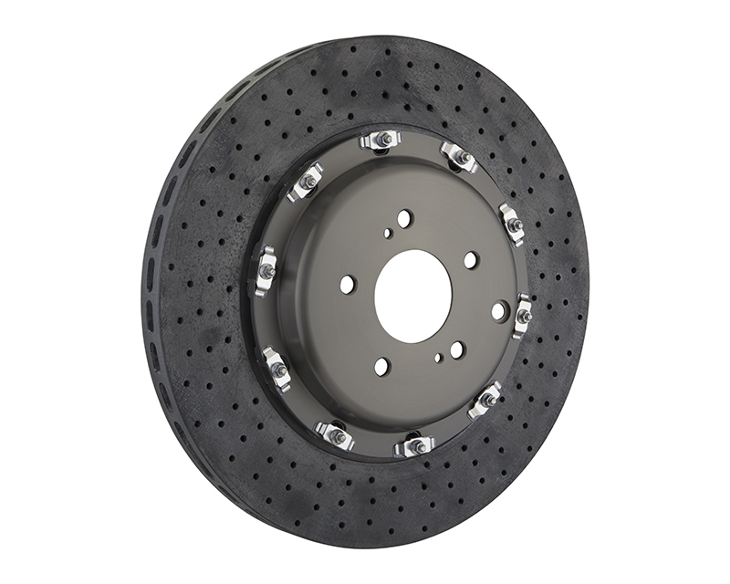Brembo Drilled Front 380x34 CCM-R Rotors Nissan GT-R R35 09-11