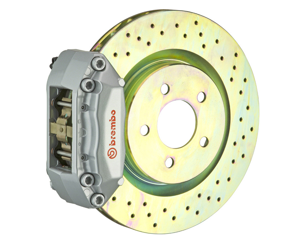 Brembo GT 285x28 1-Piece 4 Piston Silver Drilled Front Big Brake Kit - 1A4.3002A3