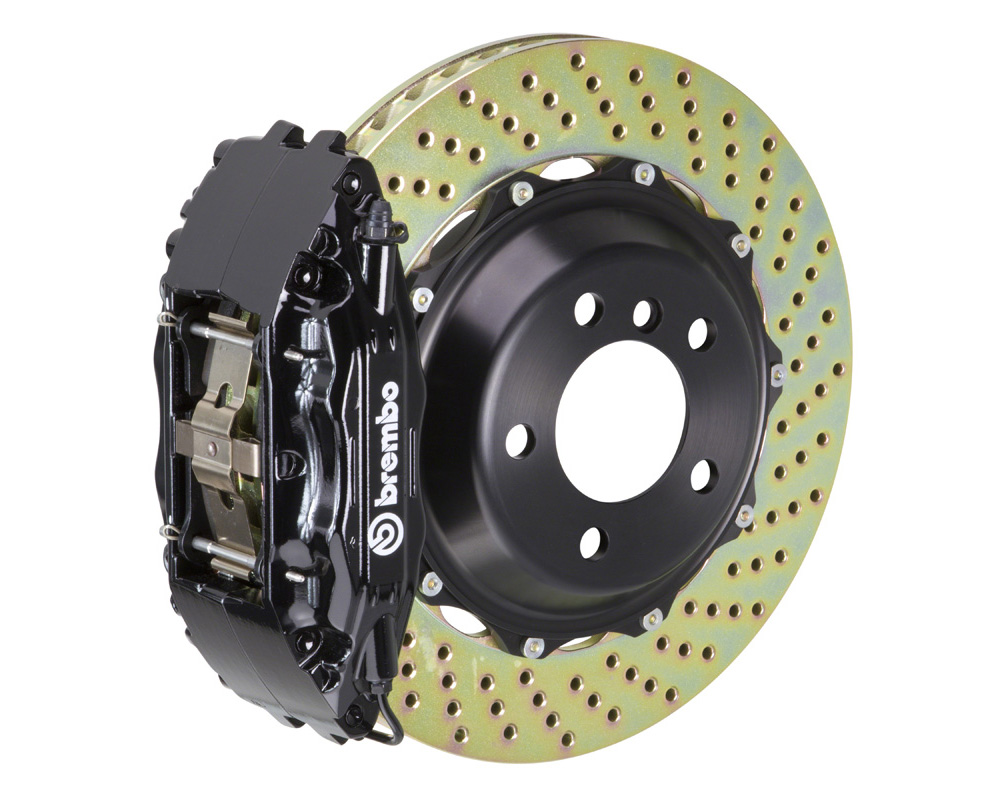 Brembo GT 355x32 2-Piece 4 Piston Black Drilled Front Big Brake Kit - 1B1.8011A1