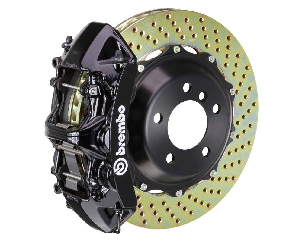 Brembo GT 355x32 2-Piece 6 Piston Black Drilled Front Big Brake Kit - 1M1.8034A1