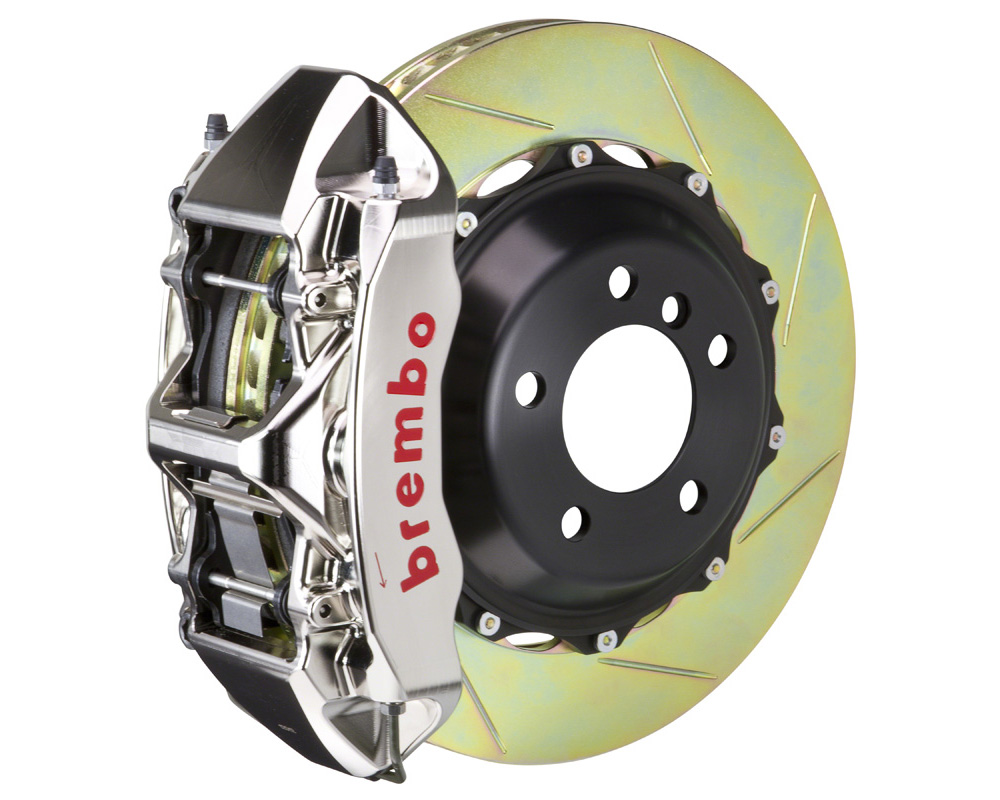 Brembo GT-R 355x32 2-Piece 6 Piston Nickel Plated Slotted Front Big Brake Kit - 1M2.8016AR