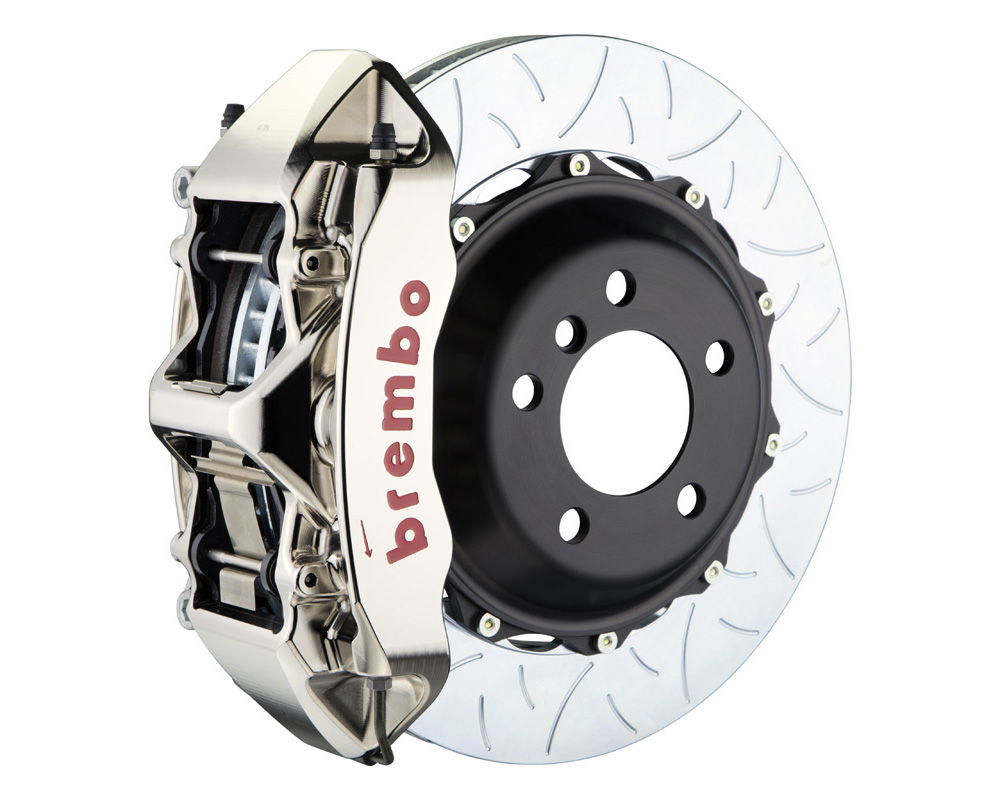 Brembo GT-R 355x32 2-Piece 6 Piston Nickel Plated Slotted Type-3 Front Big Brake Kit - 1M3.8051AR