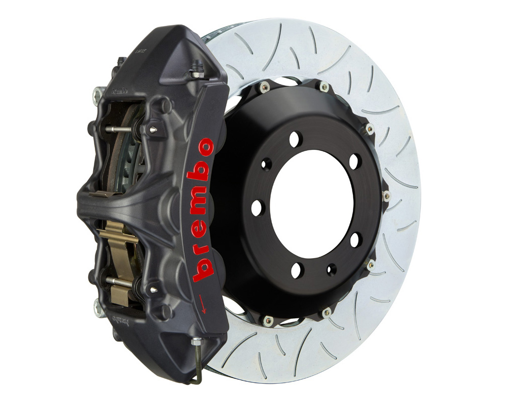 Brembo GT-S 355x32 2-Piece 6 Piston Hard Anodized Slotted Type-3 Front Big Brake Kit 14-20 - 1M3.8061AS