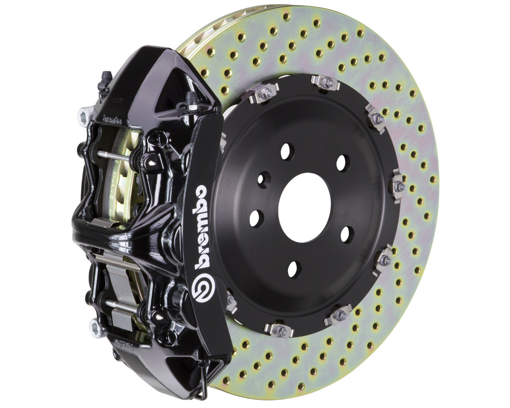 Brembo GT 380x34 2-Piece 6 Piston Black Drilled Front Big Brake Kit - 1N1.9005A1