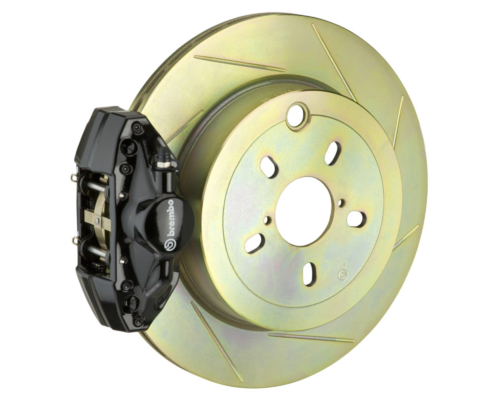 Brembo GT 294x19 1-Piece 2 Piston Black Slotted Rear Big Brake Kit - 2E5.4001A1