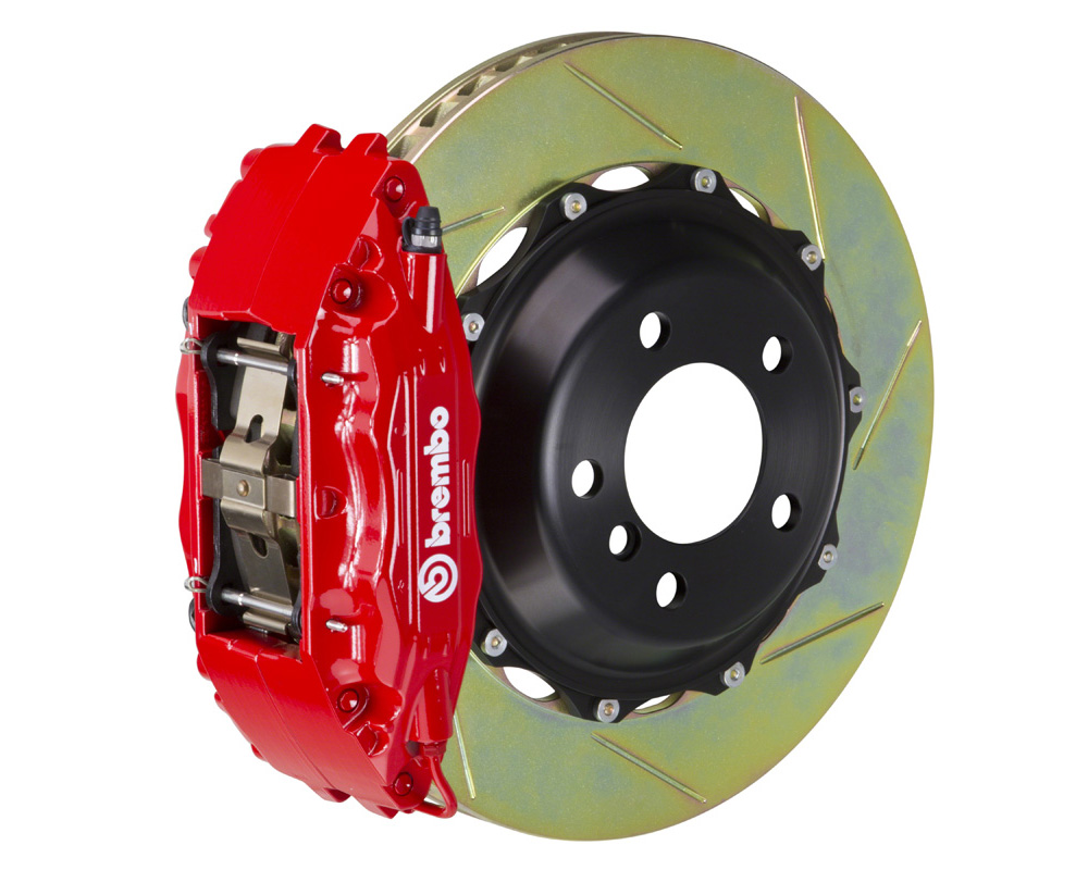 Brembo GT 355x32 2-Piece 4 Piston Red Slotted Rear Big Brake Kit - 2H2.8006A2