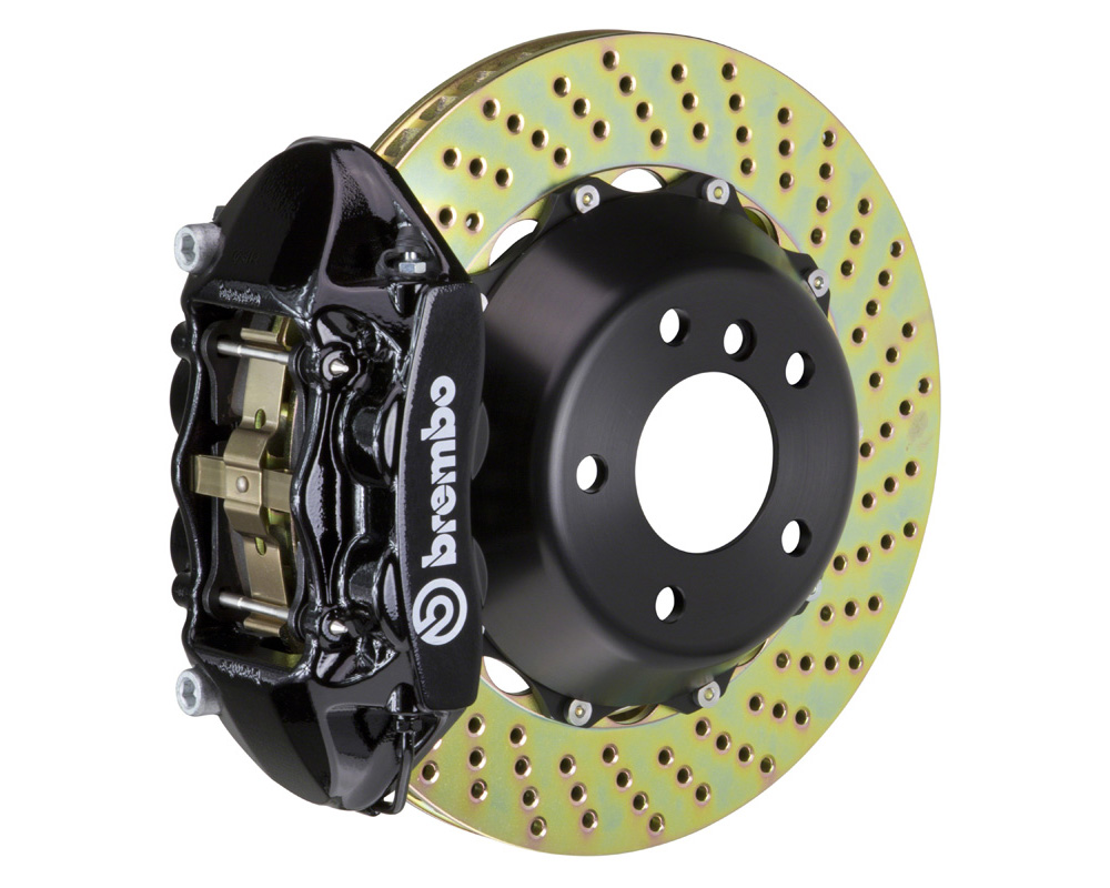 Brembo GT 345x28 2-Piece 4 Piston Black Drilled Rear Big Brake Kit - 2P1.8023A1