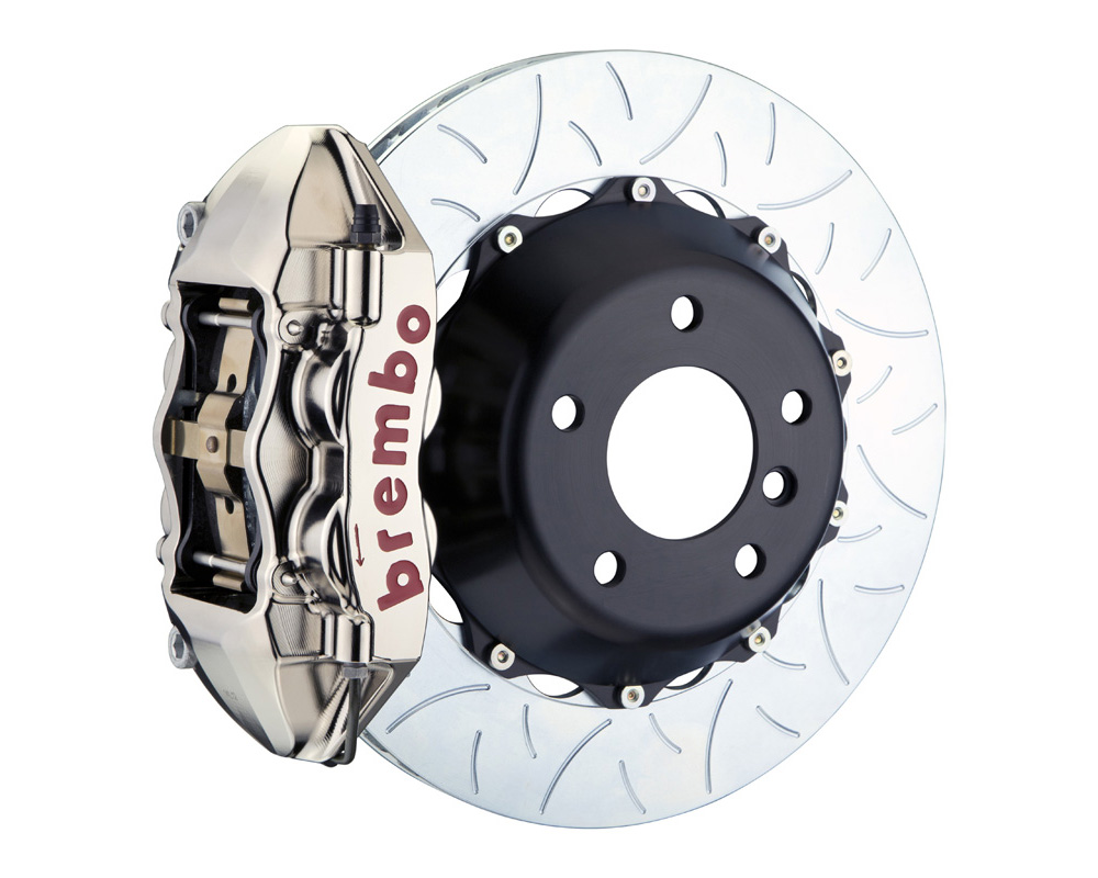 Brembo GT-R 380x28 2-Piece 4 Piston Nickel Plated Slotted Type-3 Rear Big Brake Kit - 2P3.9049AR