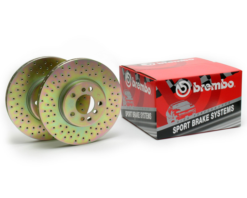 Brembo Sport Cross Drilled Rear Rotors Volkswagen Passat 98-05
