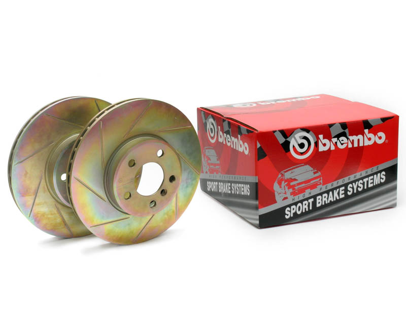 Brembo Sport Slotted Rear Rotors Audi A6 99-04
