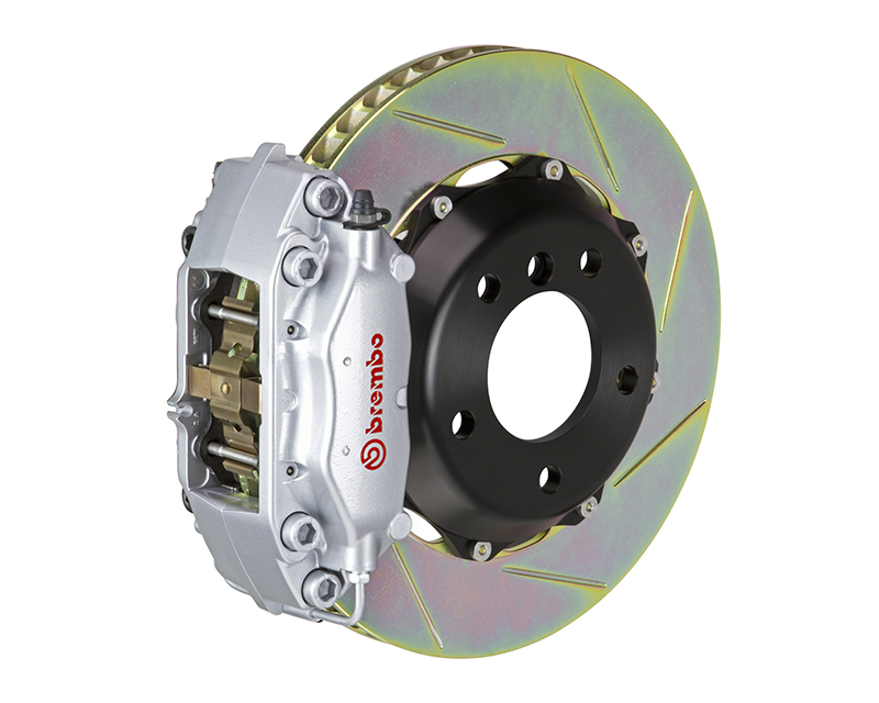 Brembo GT 320x28 2-Piece 4 Piston Silver Slotted Front Big Brake Kit Mini Cooper | Cooper S Hatchback 02-06