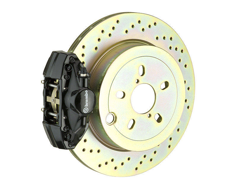 Brembo GT 294x19 1-Piece 2 Piston Black Drilled Rear Big Brake Kit BMW 3-Series E36 92-98