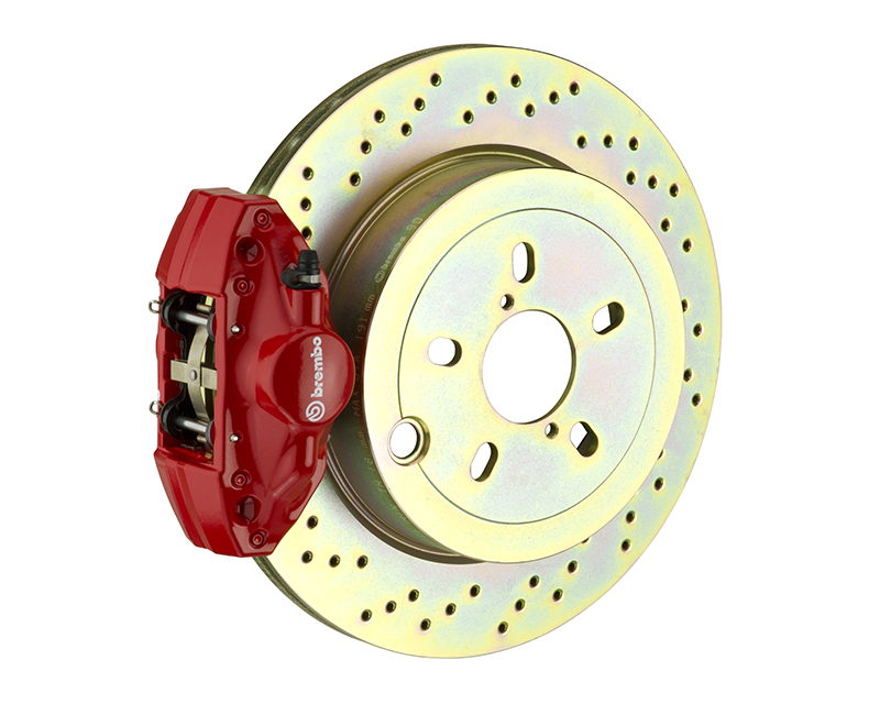 Brembo GT 294x19 1-Piece 2 Piston Red Drilled Rear Big Brake Kit BMW 3-Series E36 92-98