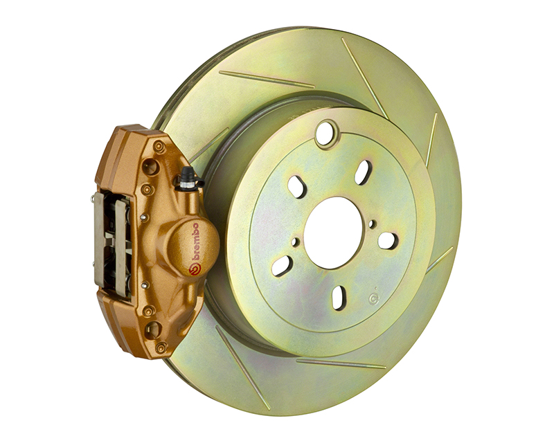 Brembo GT 316x20 1-Piece 2 Piston Gold Slotted Rear Big Brake Kit Scion FR-S 13-14