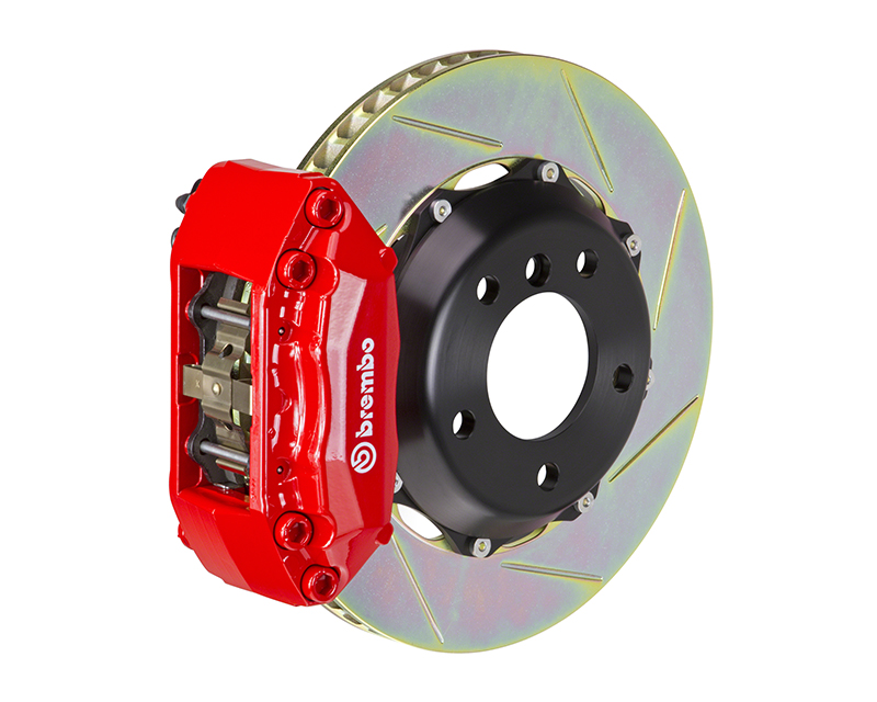 Brembo GT 320x28 2-Piece 4 Piston Red Slotted Front Big Brake Kit BMW 325i Excluding xDrive E46 99-05