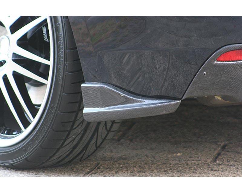 ChargeSpeed Bottom Line Carbon Rear Lip Caps Subaru WRX STI GRB 08-12 - CS979RC1C