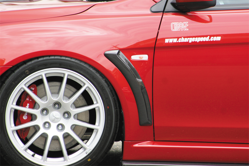 ChargeSpeed Carbon Front Fender Duct Mitsubishi EVO X 08-12 - CS427FDC