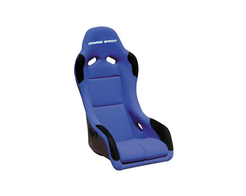 Charge Speed Racing Seat EVO X Type FRP Blue (Japanese FRP) - BC-EXF03