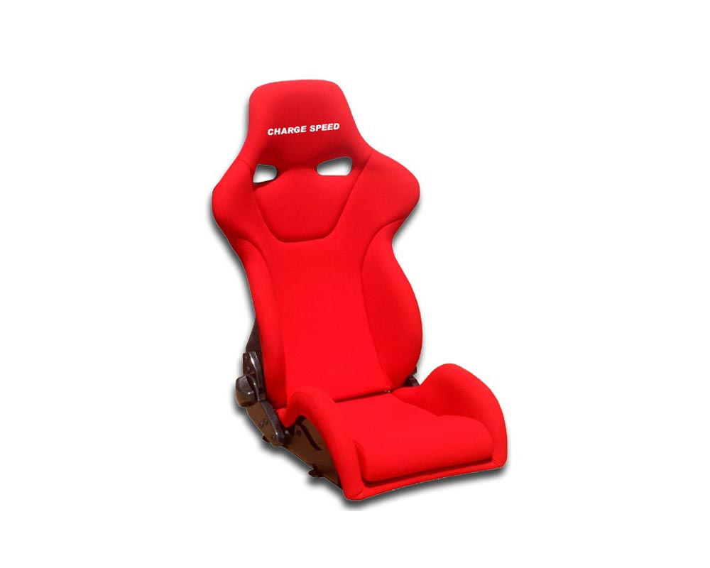 Charge Speed Racing Seat Genoa R Reclined Kevlar Red (Japanese Kevlar) - BC-GRK02