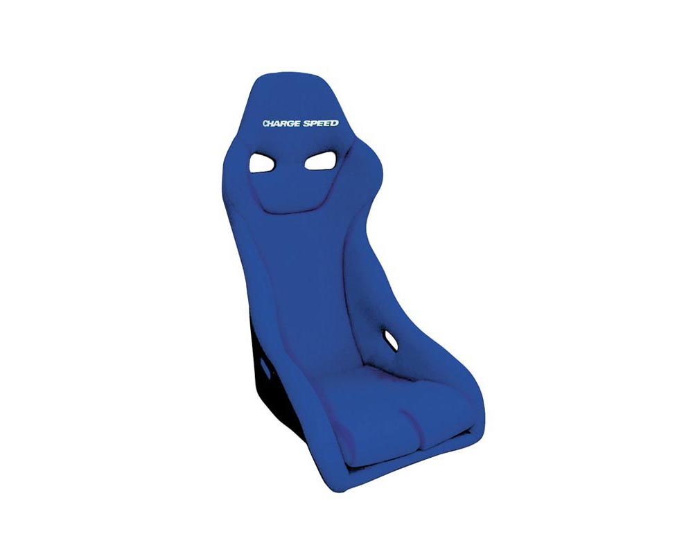 Charge Speed Racing Seat Genoa S Type FRP Blue (Japanese FRP) - BC-GSF03