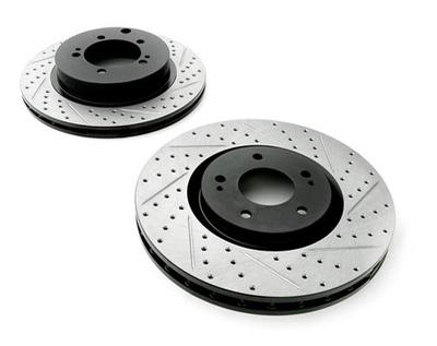 Rotora Rear Left and Right Drilled & Slotted Rotor Dodge Viper SRT10 03-06 CLEARANCE
