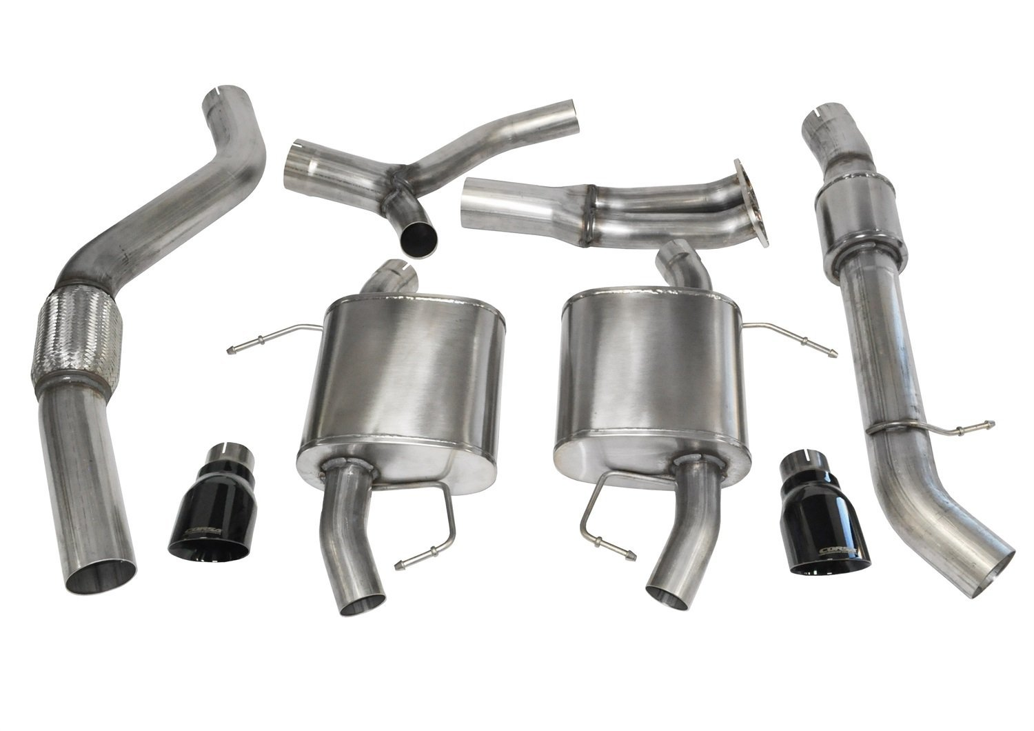 Corsa Black Sport Cat-Back Exhaust BMW 335i Touring E91 07-12