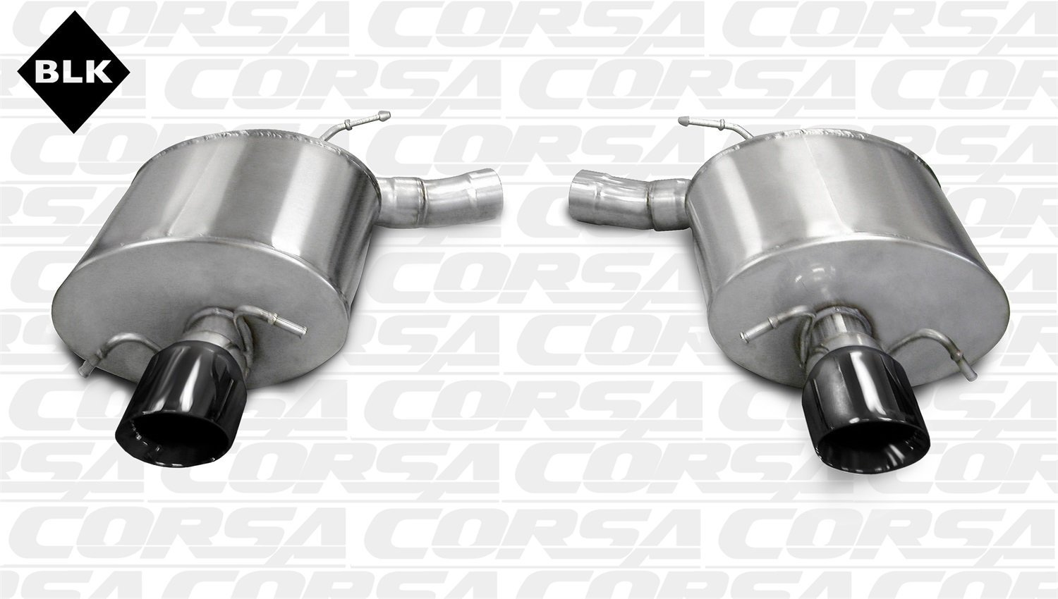 Corsa Black Sport Axle-Back Exhaust Cadillac CTS Sedan V 6.2L V8 09-13