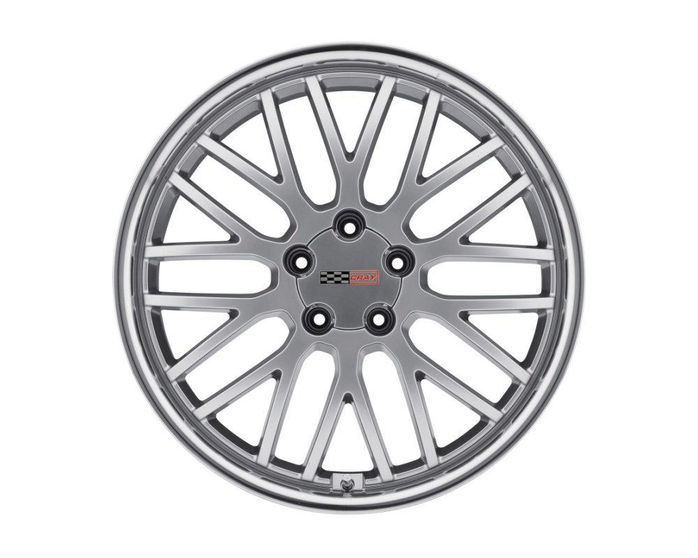 Cray Manta Hyper Silver w/ Mirror Cut Lip Wheel 17x9 5x120.65|5x4.75 50mm CB70.3 - 1790CMA505121S70