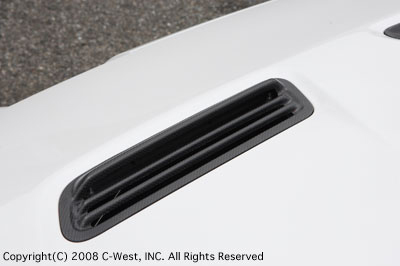 C-West Carbon Hood Air Outlet Mitsubishi EVO X 08-14 - CCZ01A-BAOCF