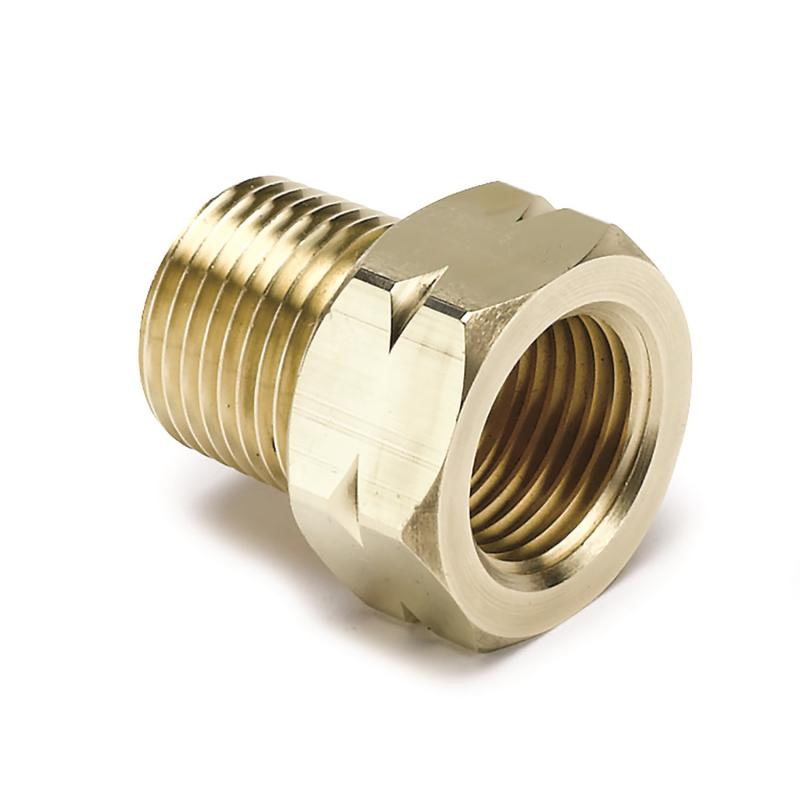 AutoMeter Fitting; Adapter; 3/8in. NPT Male; Brass; for Auto Gage Mech. Temp.