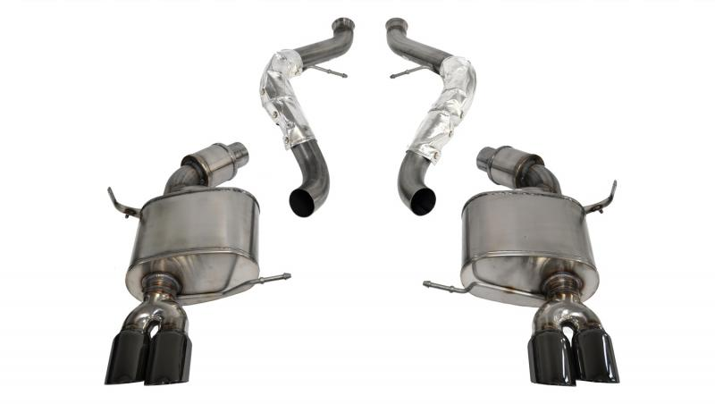 "CORSA Performance 2.5"" Catback Exhaust Dual Rear Exit with Twin 3.0"" Black PVD Pro-Series Tips BMW M3 E90 Sedan 2008-2012 - 14569BLK"