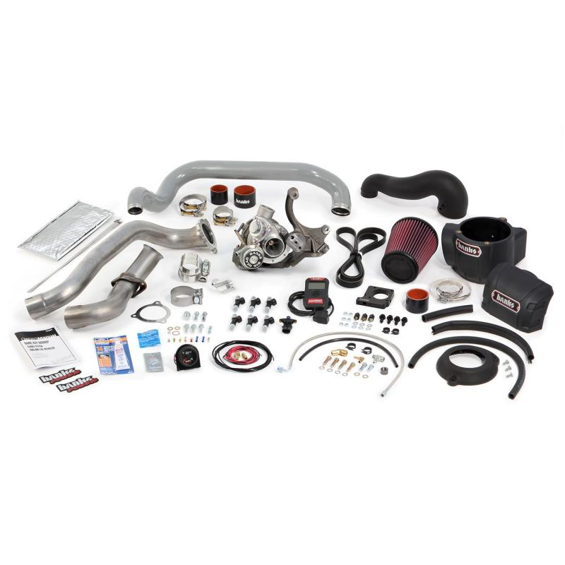 Banks Power Sidewinder Turbo System; Non-Intercooled; w/AutoMind HH Prgrmr-1999-02 Jeep Wran Jeep Wrangler 1999-2002 4.0L 6-Cyl